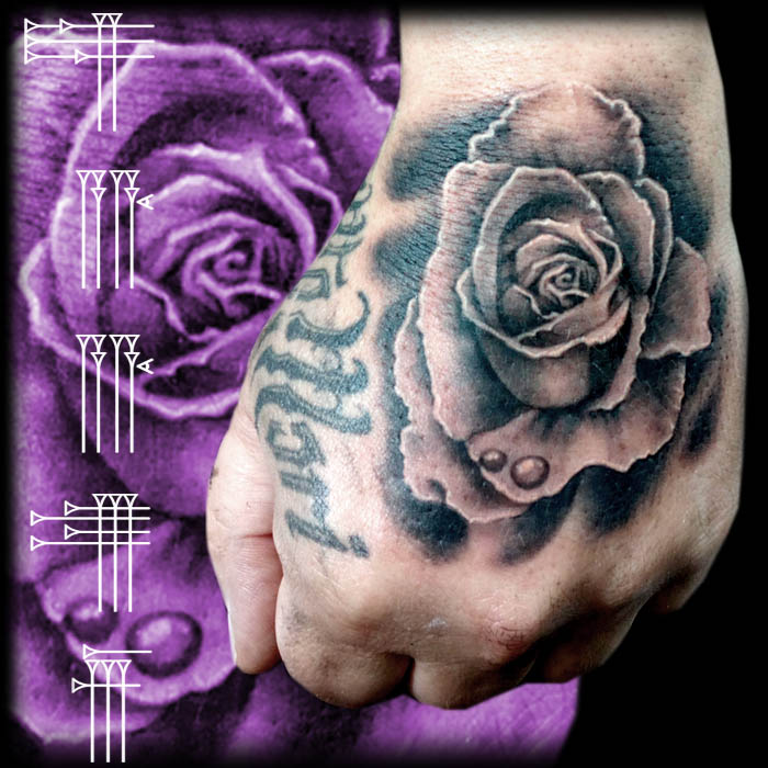 Rose Tattoo in hand