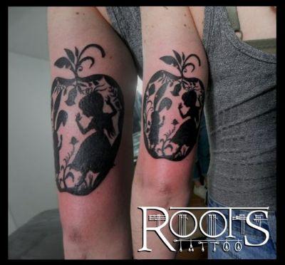 Tatuaje a tinta plana
