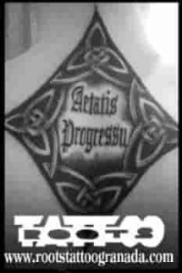 Celtic lettering tattoo