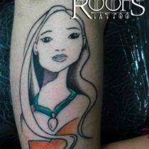 Disney line tattoo