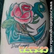 Tatuaje neotradicional a color