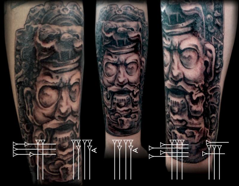 Tatuaje cara maya
