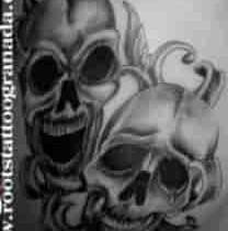 Máscaras de carnaval calaveras
