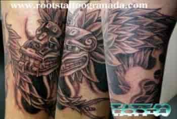 Dios Maya tatuado