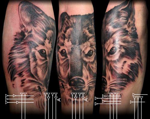 Wolf tattoo, studio in Granada