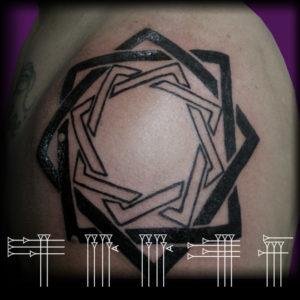 Tatuaje geométrico circunscrito