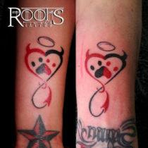 Angel y diablo chicas tattoo