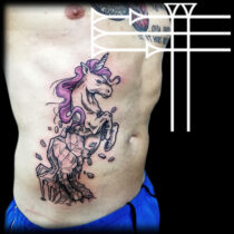 Unicornio alzado