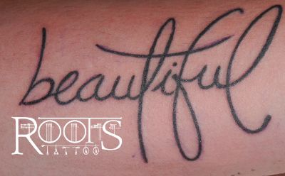 Lettering tattoo beautiful