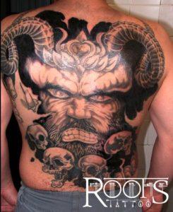 Backpiece tattoo