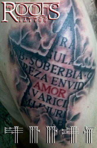 Tatuaje estrella 3d