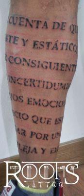 Letras pierna