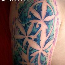 Diseño en negativo hojas de María, cannabis