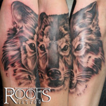 Wolf tattoo studio in Granada, Spain