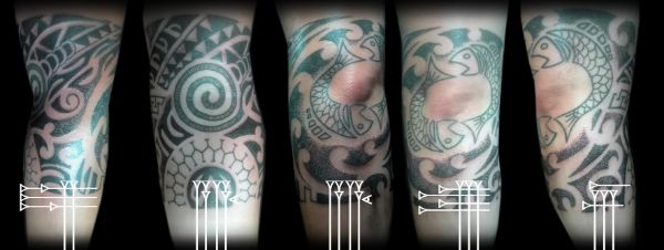Brazalete maorí con simbolo piscis