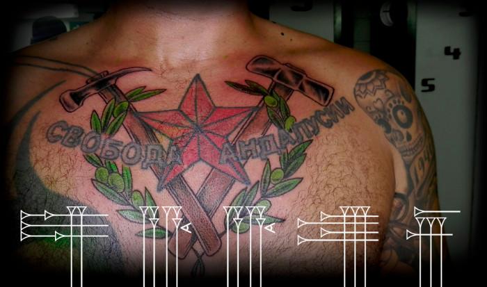 Tatuaje para pecho de hombre