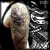 Diseño tribal maorí