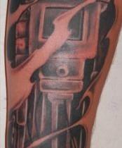 Tattoo pistón