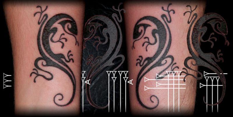 Tattoo lagarto maorí complementario