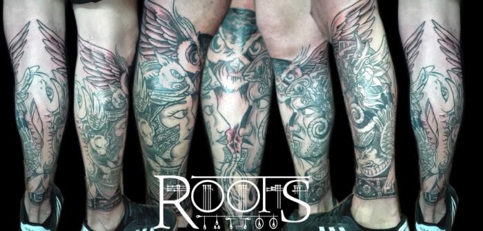 Tatuaje estilo maya