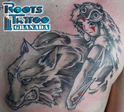 Dibujos animados tatuados