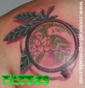 Cannabis tattoo