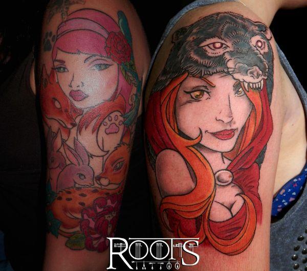 Pin ups tatuaje neotradicional