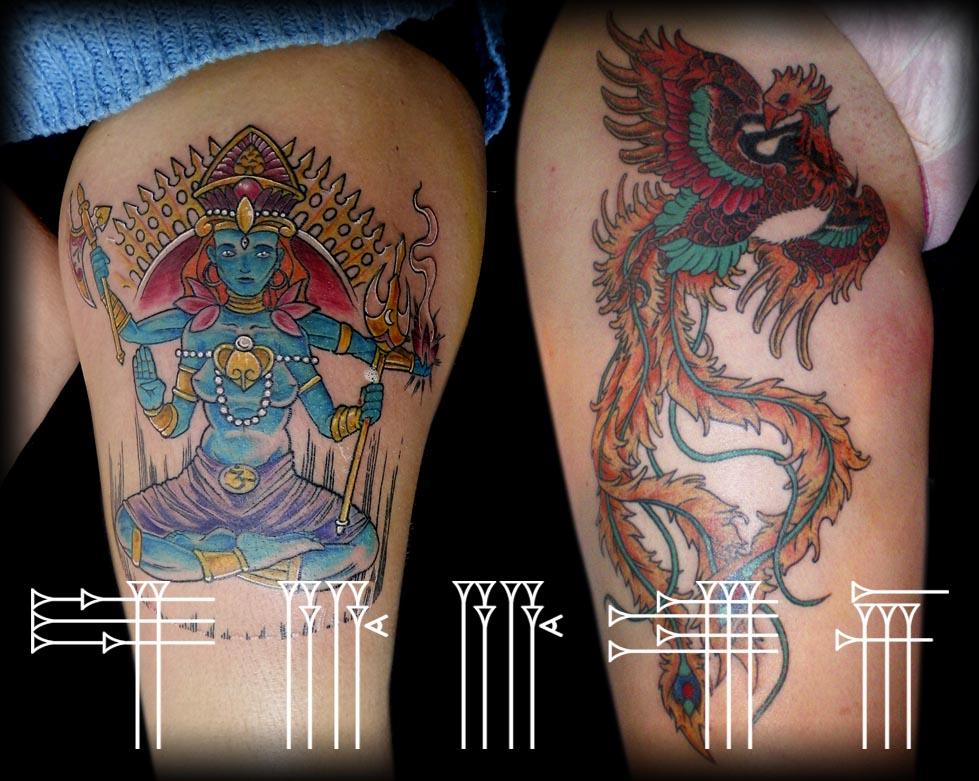 tattoos para pierna de chica