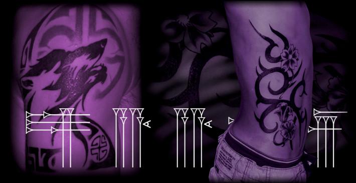 Tribal tattoos on men