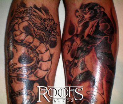 Tatuaje en las espinillas