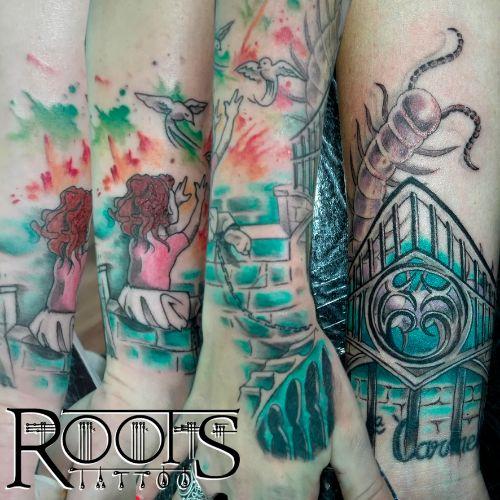 Hacer tatuaje a color acuarela
