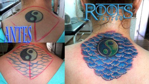 Tattoo color espalda chica
